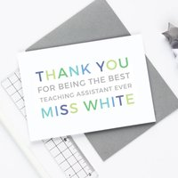 Personalised 'Thank You' Teaching Assistant Card