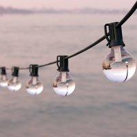 Vintage Glass Solar Festoon Lights