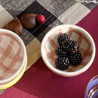 Dip Me Small Bowl White And Rose Gingham