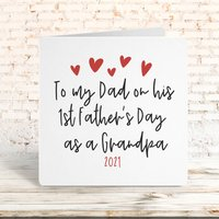 To My Dad On His First Grandfather's Day Card