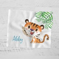 Personalised Cute Jungle Tiger Glasses Cloth