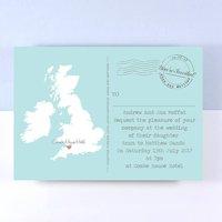 UK Map Wedding Invitation