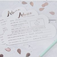 Rose Gold Foiled Advice Cards For The Parents