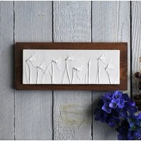 Snowdrops Mounted On Wood