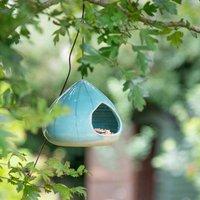 Handmade Ceramic Hanging Bird Feeder