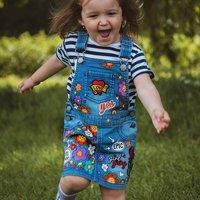 Kids Personalised Hand Painted Denim Dress