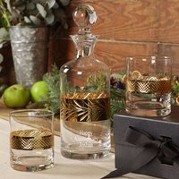 Luxury Personalised Gold Decanter And Tumblers Gift Set