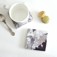 Barn Owl Stone Tile Coaster
