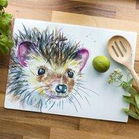 Inky Hedgehog Glass Worktop Saver