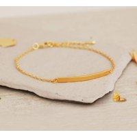 Gold Bar Bracelet, Gold