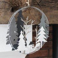 Christmas Grey Forest Wreath
