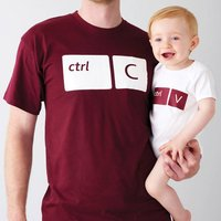 Copy And Paste T Shirt And Baby Grow, Grey/White/Navy