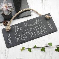 Personalisedf Slate Garden Hanging Sign