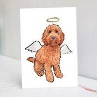 Red Cockapoo Christmas Card