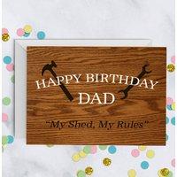 Shed Birthday Card For Dad Daddy Grandad A5