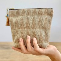 Triangles Naturally Dyed Handwoven Makeup Bag