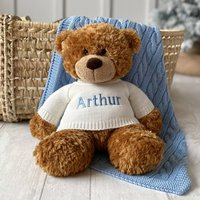 Personalised Aurora Brown Bonnie Bear Large Soft Toy