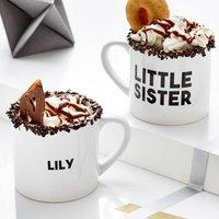 Personalised Little Sister Mug