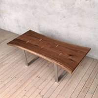 Dell Extendable Live Edge Walnut Dining Table