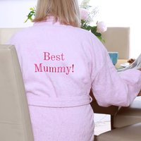 Personalised Best Mummy Dressing Gown