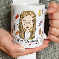 Personalised Create Your Own Teacher Mug, Black/Brown/Light Brown