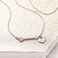 Arrow Necklace Personalised Diamond Necklace