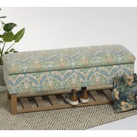 Bespoke Floral Fabric Storage Bench For Shoes