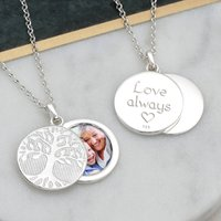 Personalised Family Tree Swing Locket Necklace