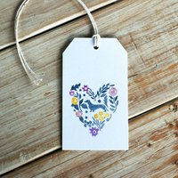 Dachshund And Flowers Gift Tag