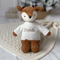 Personalised Bashful Fawn Soft Toy