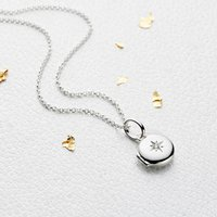 Personalised Small Silver Forever Diamond Girls Locket, Silver