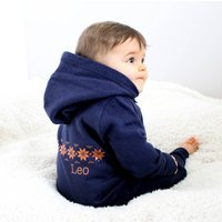 Personalised Baby Onesie, Navy/Red/White