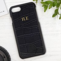 Personalised Mock Croc Leather Phone Case