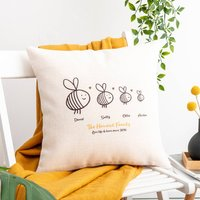 Personalised Family Bees Cushion