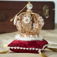 Jewelled Crown Christmas Decoration
