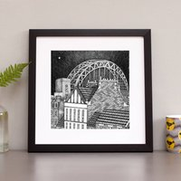 Tyne Bridge Illustration Print