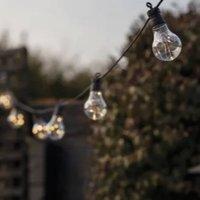 Solar Powered 10 Bulb Festoon Lights