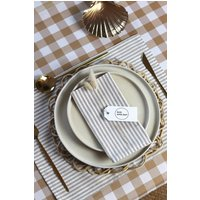 Ticking Stripe Cotton Linen Napkins Set Of Four