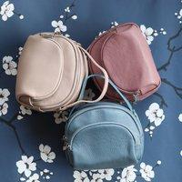 Small Leather Handbag, Blush Pink