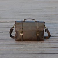 Leather Laptop Satchel Bag