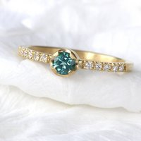 Tourmaline And Diamond Ring, Eco Friendly