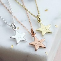Personalised Small Star Charm Necklace