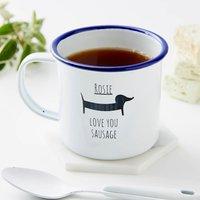 Personalised Sausage Dog Enamel Mug