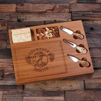 Personalised Bamboo Wood Cutting Bread Cheese Board