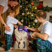 Personalised Christmas Santa Sack With Child's Drawing