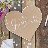 Kraft Heart Shaped Wedding Day Guestbook