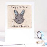 Personalised Bunny Rabbit Birthday Card