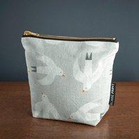 Beachcomber Printed Cotton Linen Make Up Bag