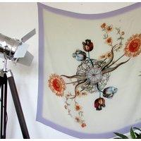 'Periphylla' Illustrated Silk Scarf