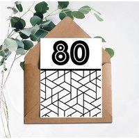 80 Printed Birthday Card